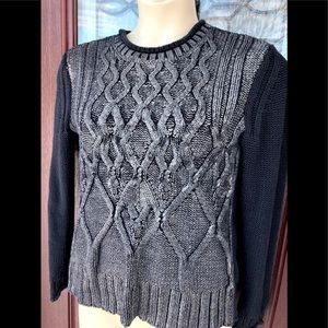 Narciso Rodriguez Gunmetal Metallic Silver Sweater